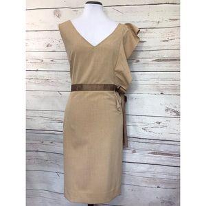 New York & Co asymmetrical sleeveless Tan size 15